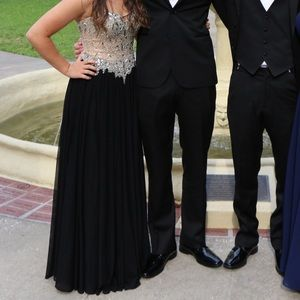 beautiful black prom dress